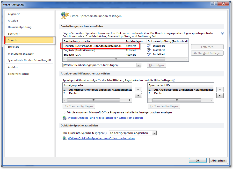 Screenshot Datei, Optionen